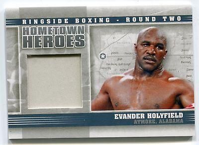 Evander Holyfield 2011 Ringside Boxing 2 Hometown Heroes Trunks /50 *AA350