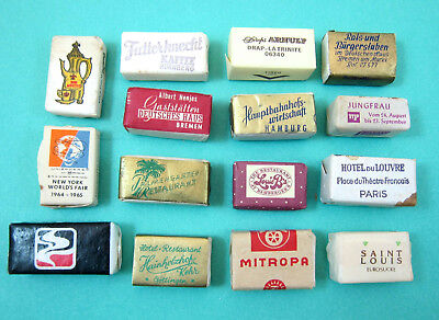 15 Vintage Sugar Cubes, mostly from Germany 1950's