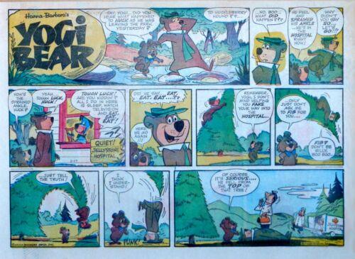Yogi Bear - Hanna-Barbera TV - large half page Sunday comic - February 17, 1963