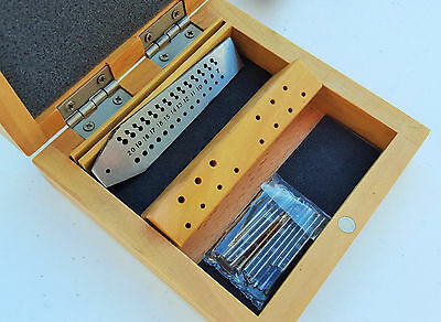 Mini Tap & Die Set with Screw Plate & Taps Jewelers Jewelry Design Repair Tool