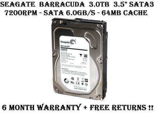 "Seagate Barracuda 3TB 3.5"" SATA3 6.0GB/s 7200Rpm 64MB Cache Desktop Hard Drive"