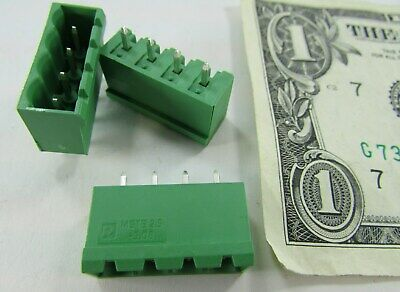 Lot 10 Phoenix Contact Straight Shrouded Terminal Block Headers Male Pcb 5.08 Mm