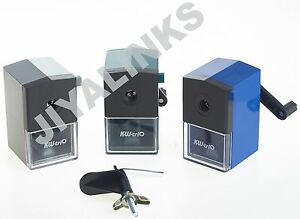 KW-triO 306A SMALLISH ECONOMY MANUAL DESKTOP PENCIL SHARPENER-8.0 mm DIA PENCILS