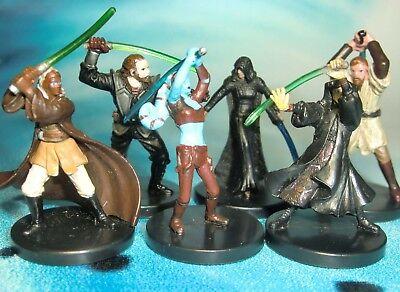 Star Wars Miniatures Lot  Aayla Secura Obi Wan Kenobi Stass Allie !!  s97