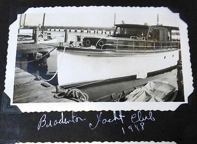 1948 Miami Yacht Club original photos lot (11); boats, South Florida old images