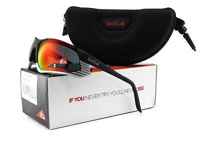 New Bolle CADENCE Sunglasses | 12087 Matte Black Silver / TNS Fire (Bolle Sunglasses Lenses)