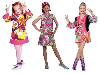 70er 80er Jahre Kleid Kostüm Flowerpower Kinder Hippie Hippy Hippiekostüm - 80er Jahre Kostüm Kind