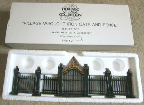 Dept. 56 Heritage Village Collection- Village Wrought iron gate & fence #5514-0
