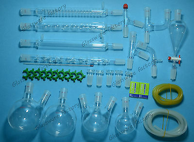 Organic Chemistry Glassware Kit33 Pcs2440lab Chemilcal Unitlab Glass 2440