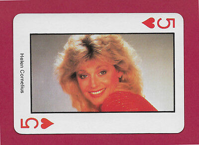 Helen Cornelius playing card single swap five of hearts Country Music - 1 card