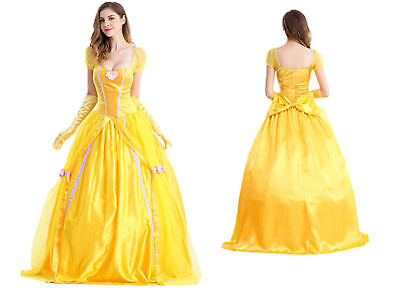 Womens Fairytale Storybook Belle Beauty & the Beast Ball Gown Costume](Storybook Belle Costume)