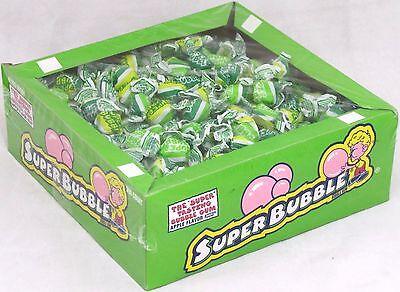 Super Bubble Gum (Super Bubble Gum Apple Flavor 300 Pieces Box Chewing Gum Candy Bulk Over 3)