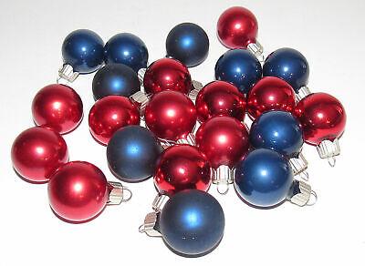 "22 Miniature Feather Martha Stewart Glass Christmas Ornaments MSE 1"" Diameter"