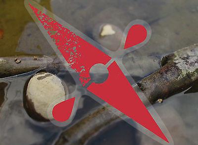 International Kayak decal,conserving watersheds,clear vinyl sticker w//white logo