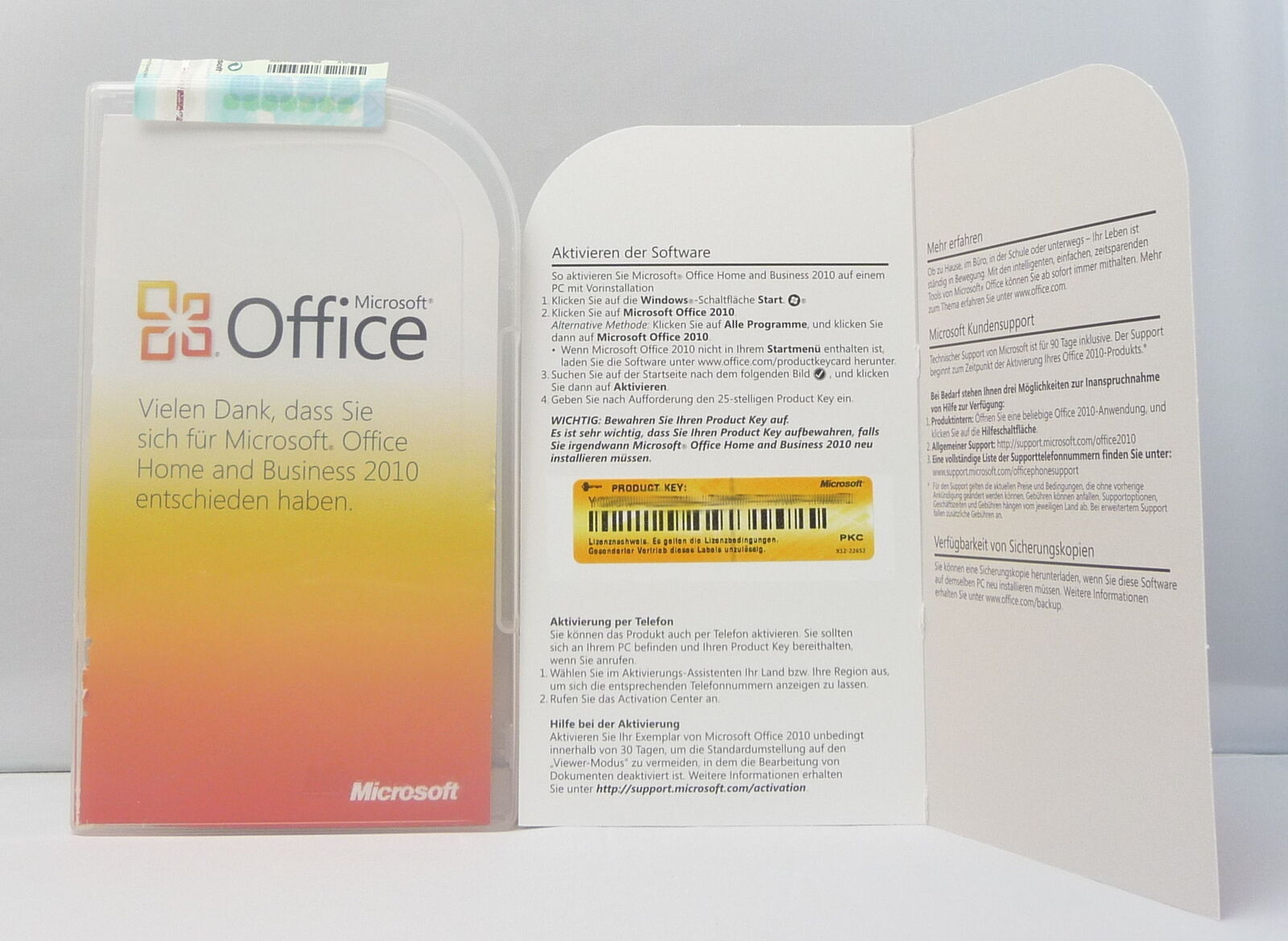 Microsoft Office 2010 Home and Business - PKC - Deutsch - mit Word,Excel,Outlook