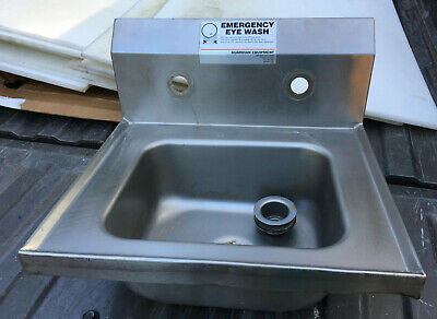 17 X 16 Stainless Steel Wall Mount Hand Sink Backsplash
