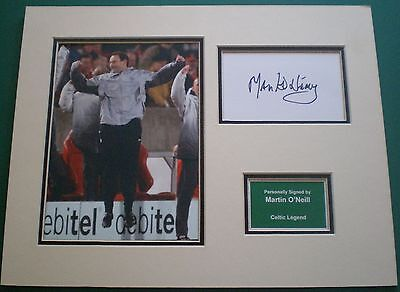Genuine Martin O'Neill Hand Signed Autograph Photo Mount Celtic Legend AFTAL
