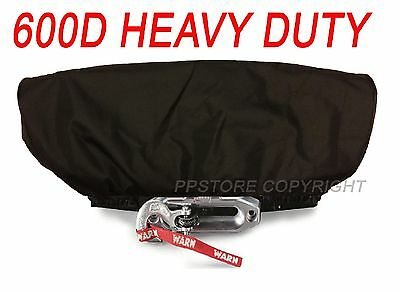 Waterproof Soft Winch Cover - fits 12,000 lb Wireless Winch + Other Winches BLK