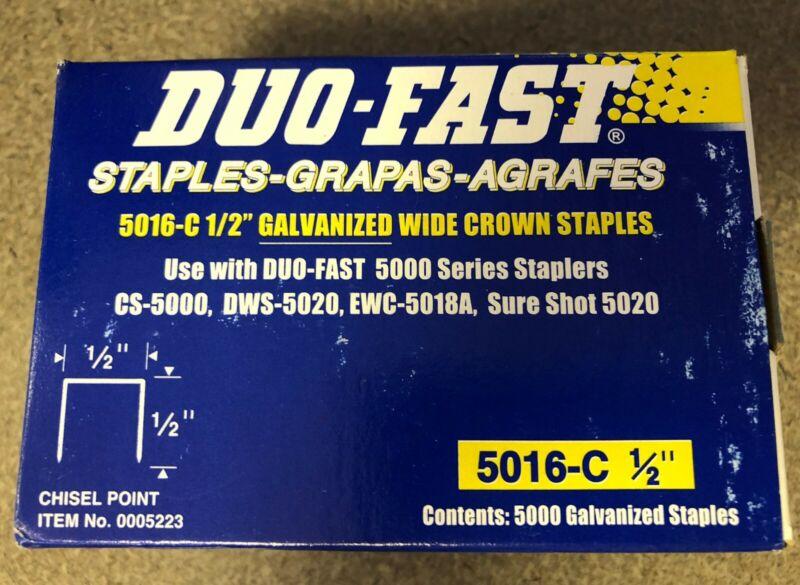 "Duo-Fast Staples - Half Inch, 5016-C 1/2"" - NEW FULL BOX 5,000 count"