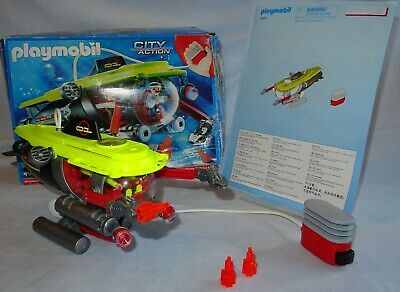 Playmobil 4909 Deep Sea Submarine + Working Underwater Motor + Box VGC COMPLETE