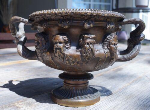 Neoclassical Bronze Grand Tour Warwick Albani Vase Planter Antique Barbedienne