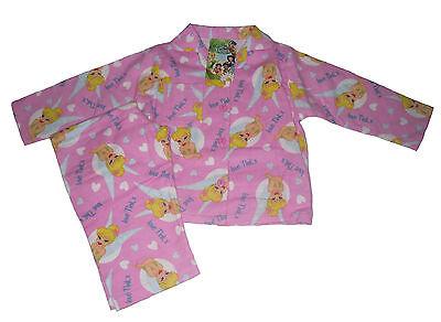 Tinkerbell Mädchen Pyjamas (BABY GIRLS PYJAMAS DISNEY TINKERBELL FLANNEL 12-18 & 18-24 MONTHS)