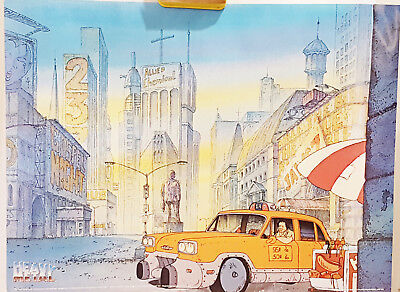 Heavy Metal Movie Harry Canyon Taxi 24 x 18 Poster 1981 + Multi-Scene Poster