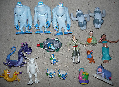Lot 18 Disney character action figures toys Monsters Inc. Winnie the Pooh & more