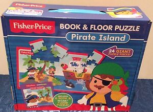 BRAND NEW FISHER PRICE PRATE ISLAND BOOK & 24 PUZZLES