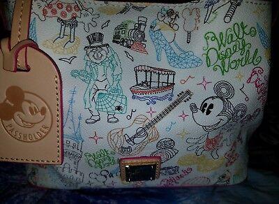 NEW Disney Dooney & Bourke Walk in the Park Mini Barlow Passholder Bag Purse