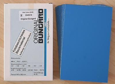 +++ 5 Stück Bungard Foto-Positiv-Platten, Platinen 100x160x1,5 mm einseitig +++