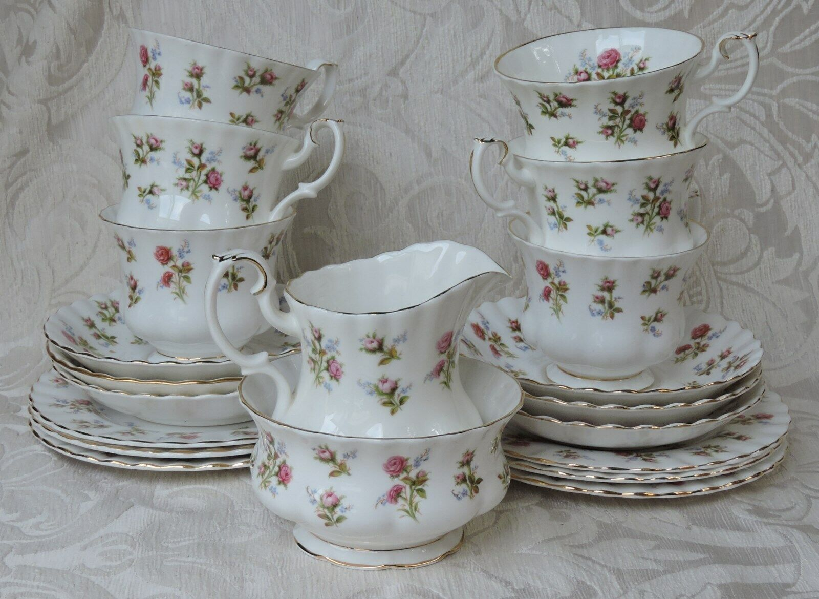 Servizio da tè per 6 Vintage 1960's Royal Albert Winsome Pattern Tea Set for Six