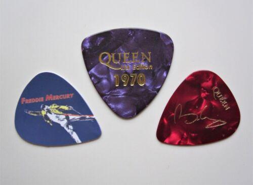 Queen Freddie Mercury Brian May Plectrums Guitar Bass Picks x 3