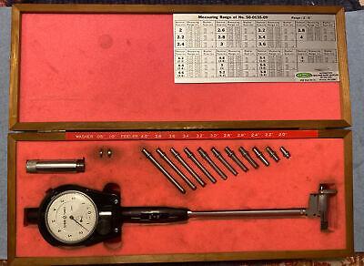 Scherr Tumico Bore Gauge Tool 50-01-0135-09 2-6 With Wood Box Goodson Mcb-06