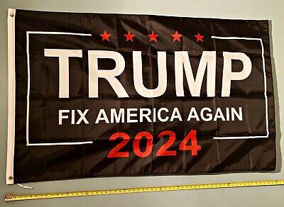 TRUMP FLAG FREE SHIP USA SELLER! Ivanka Don Jr Fix America 2024 Sign Poster 3x5'