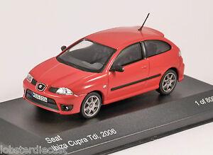 2006 SEAT IBIZA CUPRA TDi in Red 1/43 scale model by Whitebox