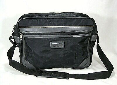 American Tourister Black/Grey Nylon Carry-On Travel Tote Bag W/Shoulder Strap American Tourister Carry On