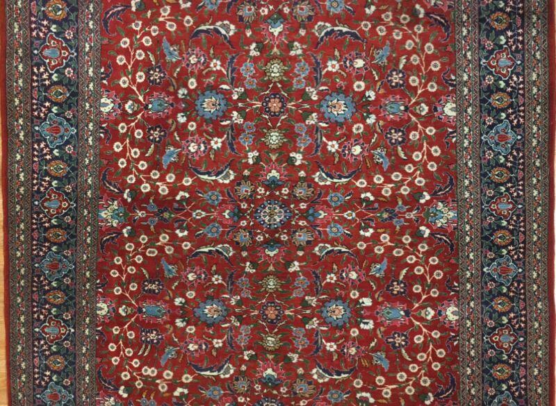 Heralded Hereke - 1950s Vintage Turkish Rug - Oriental Design - 6.1 X 9.5 Ft
