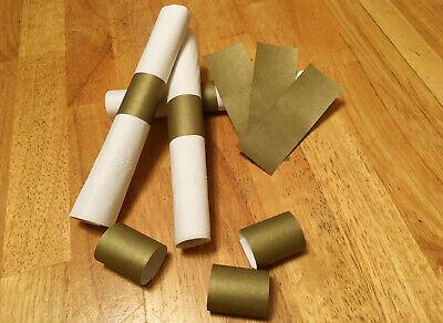 Gold Self-Adhesive Paper Napkin Rings/Bands](Gold Napkin Rings)