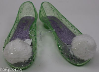 Disney Tinkerbell Youth Light Up Green Girls Shoes Size 2-3 NWT