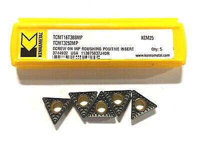 Kennametal Carbide Inserts Tcmt3252mp Grade Kcm25 Screw On Roughing Positive 5pk