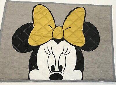 "Pillow Sham Disney Mini Mouse Face Gray Black and Gold 20"" X 26"" Colors](Mini Mouse Face)"