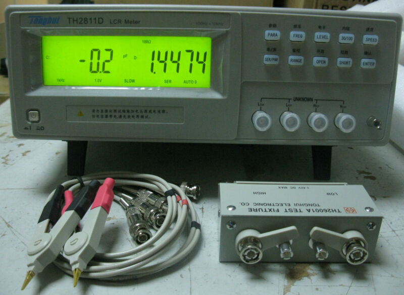 High-accuracy Benchtop LCR Meter 10KHz Inductance Capacitance RZ DQ Test TH2811D