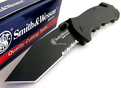 Smith & Wesson Border Guard Rescue Tanto LARGE Knife GlassBreaker CLAM SWBG6TS