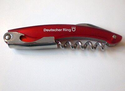 Kellnermesser, Flaschenöffner, Korkenzieher, rot, 11,5 cm, neu und OVP