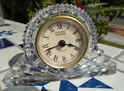 Clock Crystal Glass Crystal Legends Godinger Quartz Movement Mantel