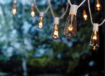 Goothy 20Ft Outdoor Patio String Lights ,set of 20 Glass ST40 Edison Style - Edison String Lights