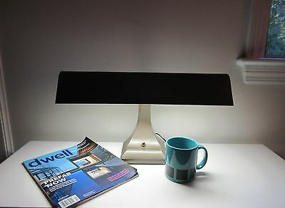 Vtg Mid Century Modern Art Deco Mark Mfg Florescent Flying Wing Desk Lamp