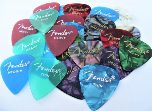 Fender Premium/California Clear Guitar Picks 24 Variety Pack (Thin, Med & Heavy)