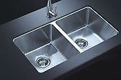 """High end 31"""" Undermount 50/50 Double Bowl stainless steel sink"""